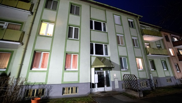 Das Wohnhaus der getöteten Pensionistin (Bild: APA/GEORG HOCHMUTH)