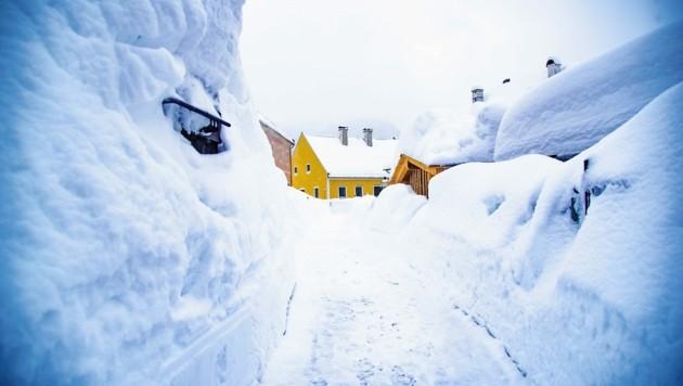 Schneemassen in Mariazell (Bild: Bektas/Land Steiermark)