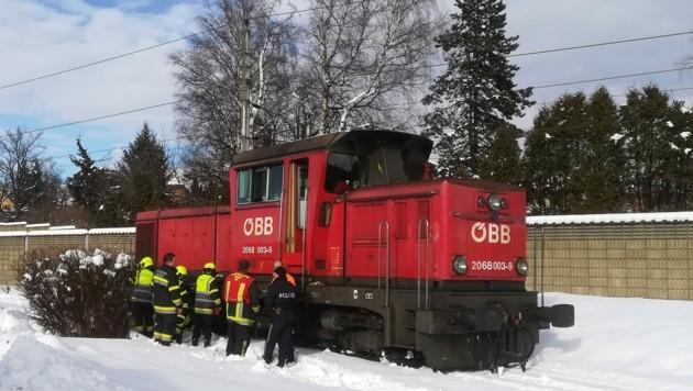 Dieselaustritt bei Lok in Villach (Bild: HFW Villach/KK)