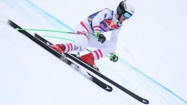 KITZBUEHEL,AUSTRIA,21.JAN.19 - ALPINE SKIING - FIS Europacup, downhill, men. Image shows Stefan Rieser (AUT). Photo: GEPA pictures/ Harald Steiner (Bild: GEPA pictures)