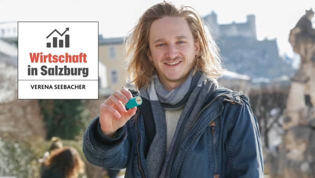 Jungunternehmer Lukas Schwaiger aus Salzburg (Bild: Markus Tschepp)