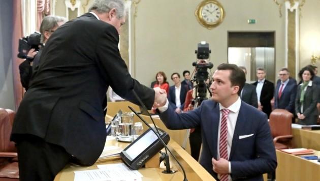 Am 25. Jänner 2018 wurde Gerald Weilbuchner als Landtagsabgeordneter angelobt. Nun muss der 28-Jährige Innviertler schon wieder Servus sagen. (Bild: Land OÖ/Stinglmayr)