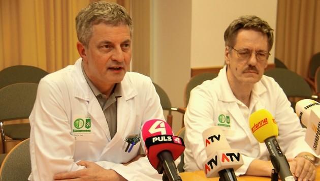 Ernst Eber (links) und Werner Zenz von der Grazer Kinderklink (Bild: Jauschowetz Christian)