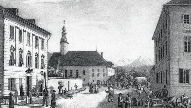 So sah die Herrmann-Gasse aus, als sich Hanslik in seiner Freizeit Klagenfurt ansah.