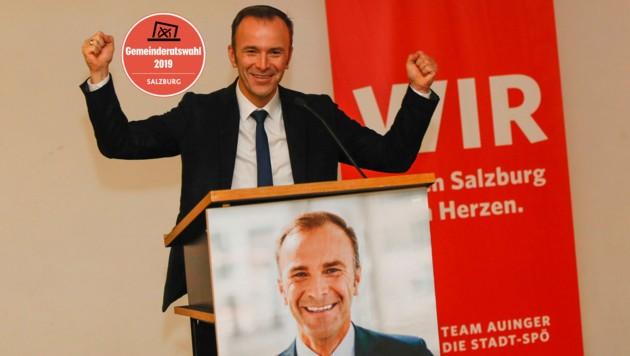 Bernhard Auinger beim Wahlkampf-Auftakt der SPÖ in der TriBühne Lehen (Bild: Markus Tschepp)