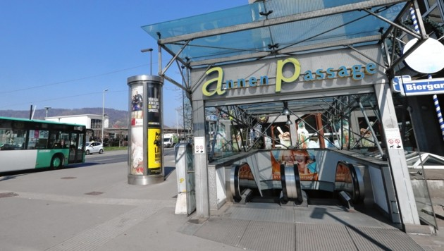 Über die Annenpassage gelangten die Täter in die BH Graz-Umgebung. (Bild: Juergen Radspieler)