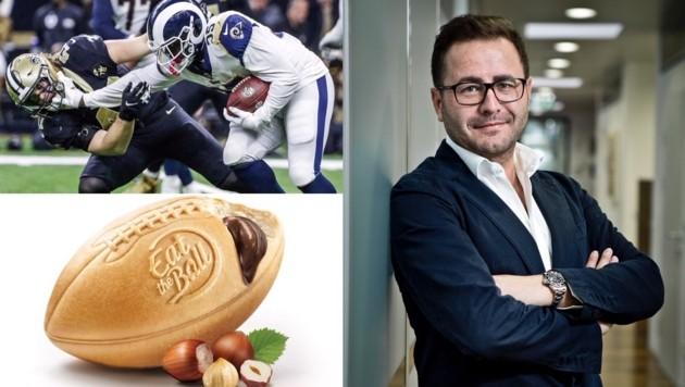 """""""Der Super Bowl bedeutet für uns einen zusätzlichen Umsatzschub"""", sagt Hobel. Rund 700.000 Brot-Bälle werden die Woche verkauft. (Bild: EPA, Eat the Ball (2))"""