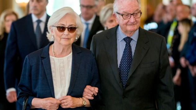 Belgiens Ex-Königin Paola und Ex-König Albert II (Bild: AFP)