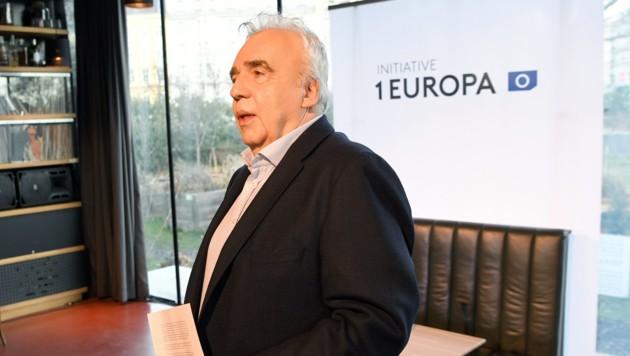"""Johannes Voggenhuber (""""Initiative 1 Europa""""/Liste Jetzt) (Bild: APA/ROLAND SCHLAGER)"""