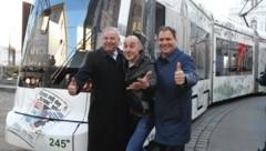 Landeshauptmann Hermann Schützenhöfer, Tom Lohner und Landeshauptmann-Stellvertreter Michael Schickhofer (Bild: Juergen Radspieler)