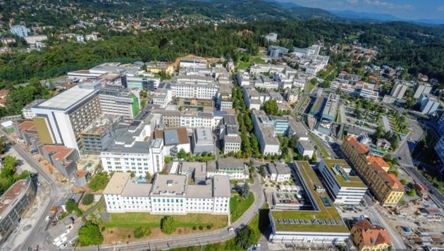 Das Universitätsklinikum Graz (Bild: Christian Freydl/LKH-Universitätsklinikum Graz)