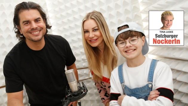 Ray Watts mit dem kleinen Superstar Philias Martinek und Mama Xenia Seeberg (Bild: Markus Tschepp)