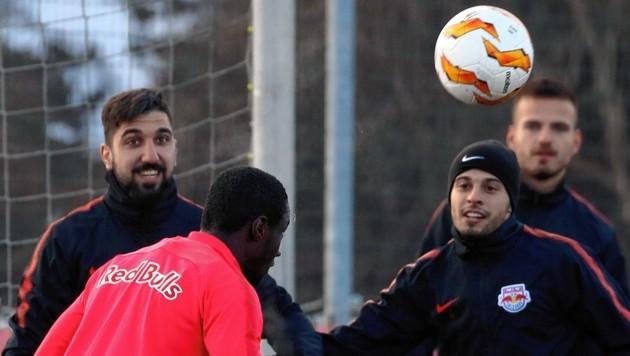 Munas Dabbur (links) und Darko Todorovic (rechts) haben anstrengende Wochen vor sich. (Bild: Andreas Tröster)