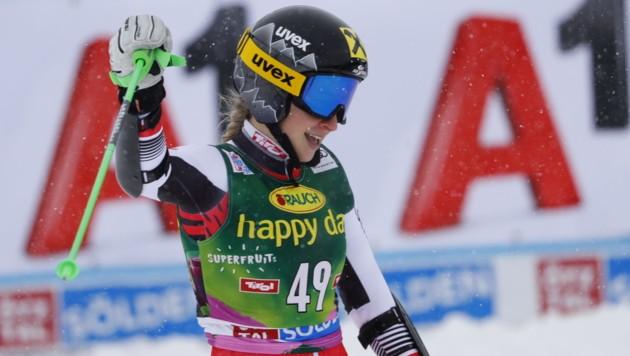 Die Stroblerin Stephanie Resch durfte sich in Berchtesgaden über Rang fünf freuen. (Bild: Christof Birbaumer / Kronenzeitung)