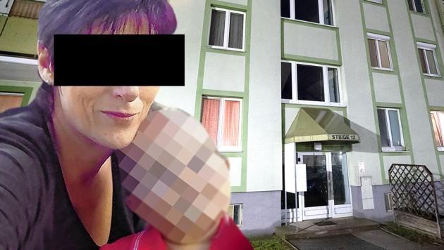 Die 43-jährige Dreifachmutter steht unter Mordverdacht. (Bild: APA/GEORG HOCHMUTH, krone.at-Grafik, zVg)