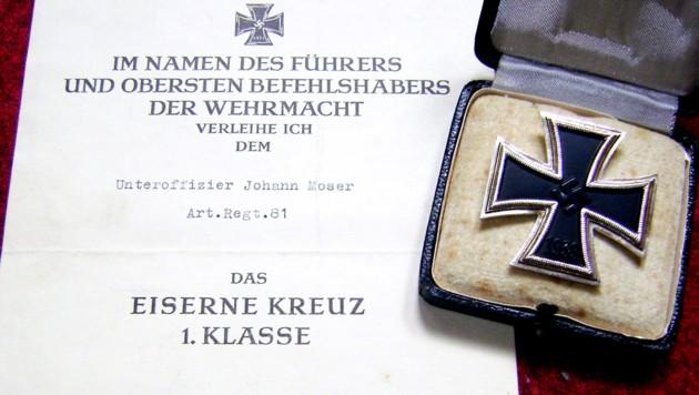 Das Eiserne Kreuz galt unter anderem als eine der höchsten Auszeichnungen der deutschen Wehrmacht. (Bild: wikimedia.org)