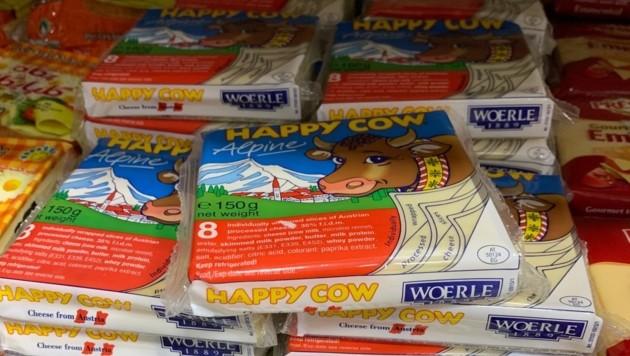 """""""Happy Cow""""-Käse gibt es auch. (Bild: krone.tv)"""