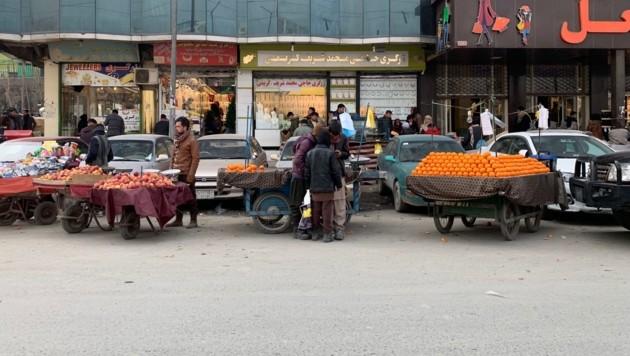 Ein Markt in Kabul (Bild: krone.tv)