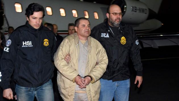 Guzman war im Jänner 2017 von Mexiko an die USA ausgeliefert worden. (Bild: AP)