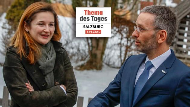 Marlene Svazek mit Innenminister Herbert Kickl (Bild: Markus Tschepp)