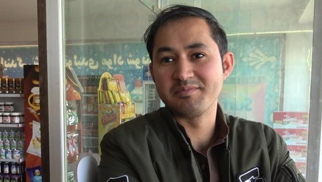 Naeem Sharifi betreibt mit seinen Brüdern ein Geschäft. Er hat nicht viel Hoffnung für seine Heimat. (Bild: Alexander Bischofberger-Mahr)