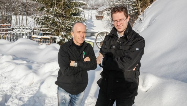 Johannes Fürstaller und Fritz Brucker (Bild: Markus Tschepp)
