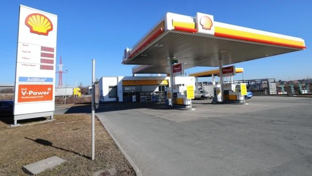 Diese Tankstelle in Seiersberg wurde am 17. Februar 2019 ausgeraubt (Bild: Juergen Radspieler)