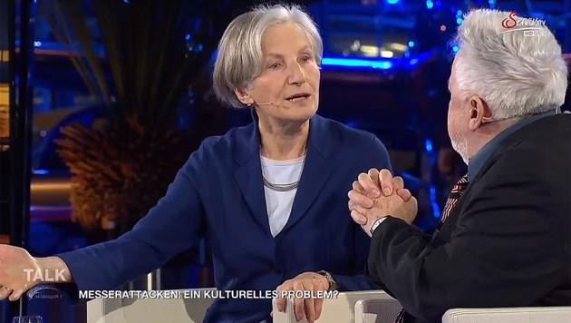 Irmgard Griss und Publizist Henryk M. Broder (Bild: Servus TV)