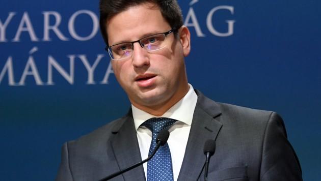 Ungarns Kanzleramtsminister Gergely Gulyas (Bild: AFP)