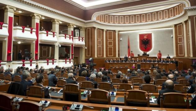 Das albanische Parlament in Tirana (Bild: AFP)