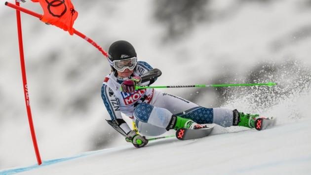 Die 17-jährige Alice Robinson schrieb bei der Junioren-WM im Fassatal Skigeschichte und holte die erste Goldmedaille für Neuseeland. (Bild: AFP or licensors)