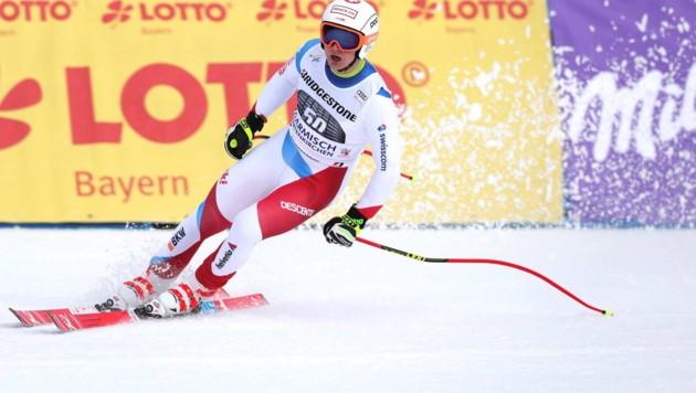 Der Schweizer Lars Rösti krönt sich im Fassatal (It) zum Juniorenweltmeister in der Abfahrt. Direkt dahinter landen mit Julian Schütter und Manuel Traninger zwei Österreicher. (Bild: GEPA pictures)