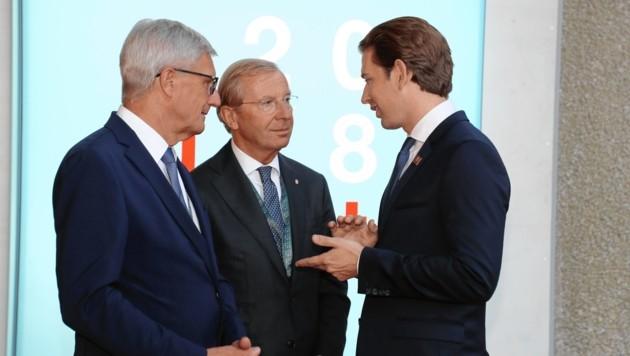 Sebastian Kurz wird mit Wilfried Haslauer Harry Preuner im Walkampffinale unterstützen. (Bild: Foto: Franz Neumayr Land Salzburg)