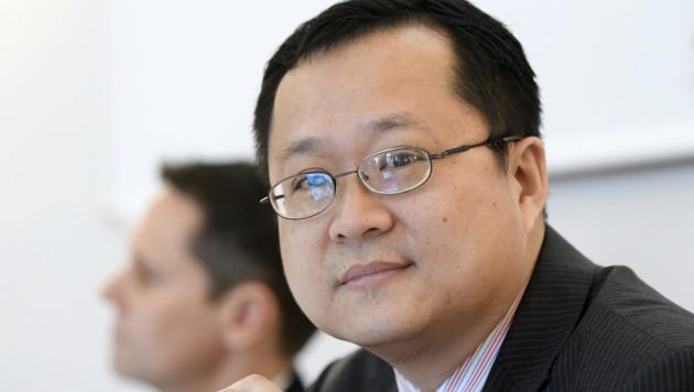 Pan Yao ist Österreich-Chef des Netzwerkausrüsters Huawei (Bild: APA/HANS KLAUS TECHT)