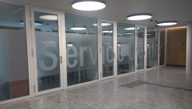 Das neue Service-Center im Salzburger Landesgericht (Bild: Antonio Lovric)