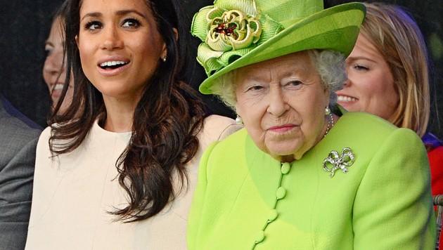 Meghan und Queen Elizabeth (Bild: AFP)