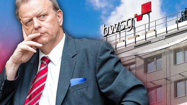 Ex-Vorstand Wilhelm Haberzettl (Bild: Zwefo, www.picturedesk.com, krone.at-Grafik)