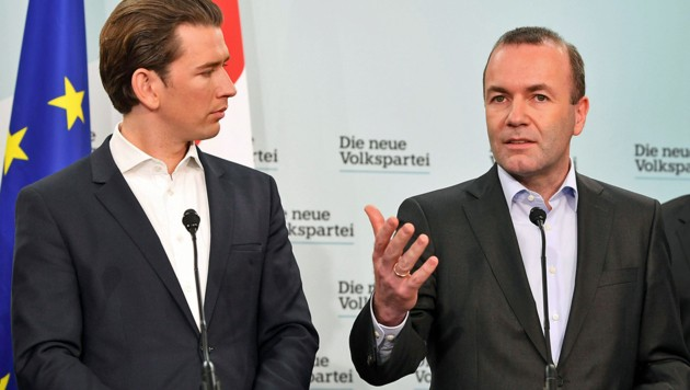 Kurz und Weber (Bild: APA/HELMUT FOHRINGER)