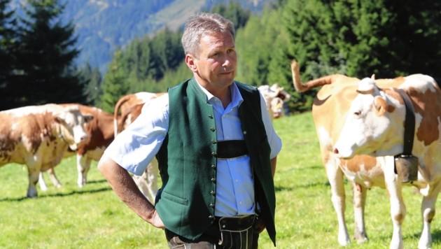 Landwirtschaftskammer-Präsident Franz Titschenbacher im Interview (Bild: Juergen Radspieler)