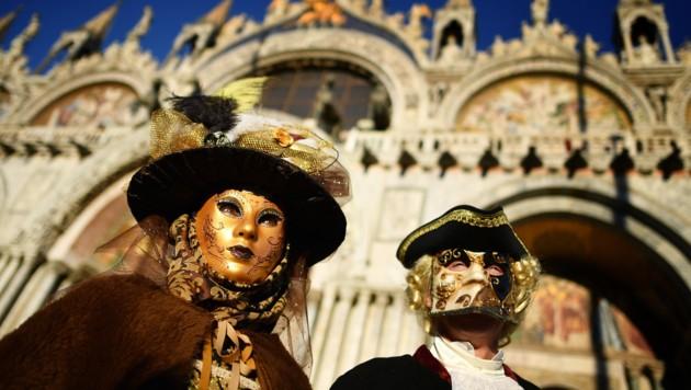 Besonders der Karneval in Venedig zieht viele Touristen an. (Bild: AFP)