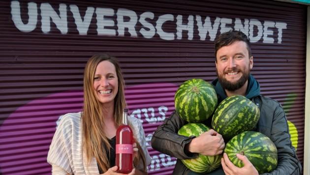 BILD zu OTS - Cornelia und Andreas Diesenreiter, Geschwister und GrŸnderInnen von Unverschwendet. (Bild: Unverschwendet)