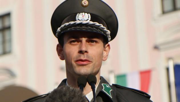 Wachtmeister Fabian Dorfer stammt aus Bad Kleinkirchheim (Bild: Bundesheer/Anton Mickla)