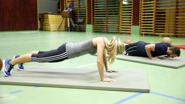 Körperlicher Eignungstest gehört bei der Aufnahmeprüfung bei der Polizei dazu (Archivbild). (Bild: Holl Reinhard)