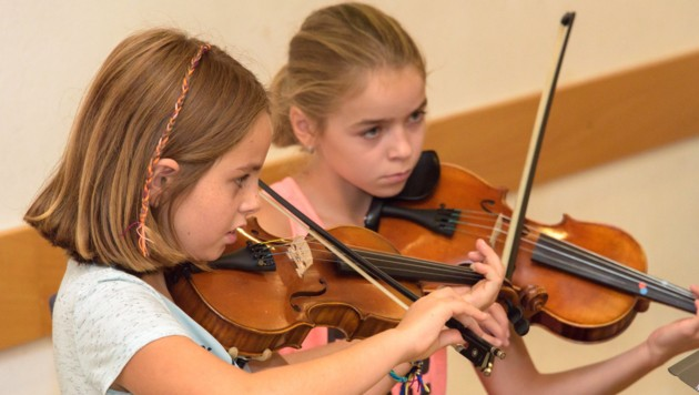 Volle Konzentration - aber auch Spiel, Spaß und Freude beim Musizieren. (Bild: Foto Jack Haijes)
