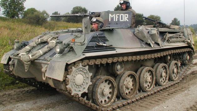 Ein Schützenpanzer des Typs Saurer-Steyr (Bild: Bundesheer)