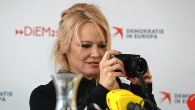 Pamela Anderson besuchte das Grazer Elevate Festival 2019 (Bild: Sepp Pail)