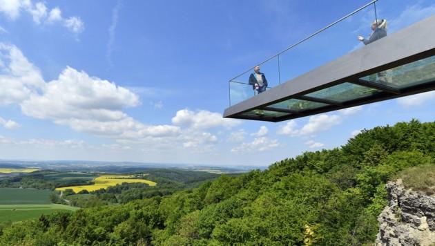 Der Skywalk am Sonnenstein in Eichsfeld (Bild: AFP)