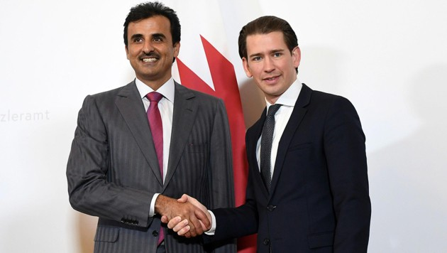 Emir von Katar trifft Kurz und Van der Bellen