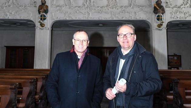 Jakob Bürgler (li.) und Bischof Hermann Glettler (Bild: Liebl Daniel)