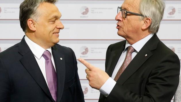 Orban und Juncker (Bild: The Associated Press)